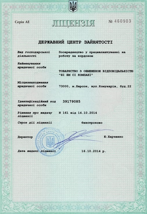 BMC Company Goverment License